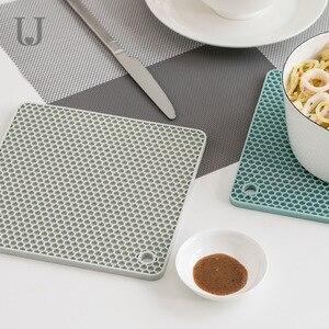 Image 3 - Youpin ürdün & Judy Beahive çift taraflı yemek Mat mutfak Anti demir Placemat kase fincan Mat kaymaz yumuşak Mat