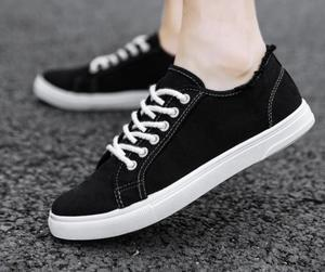 Image 5 - Canvas shoes, boys, white shoes, breathable sports, casual mens shoes