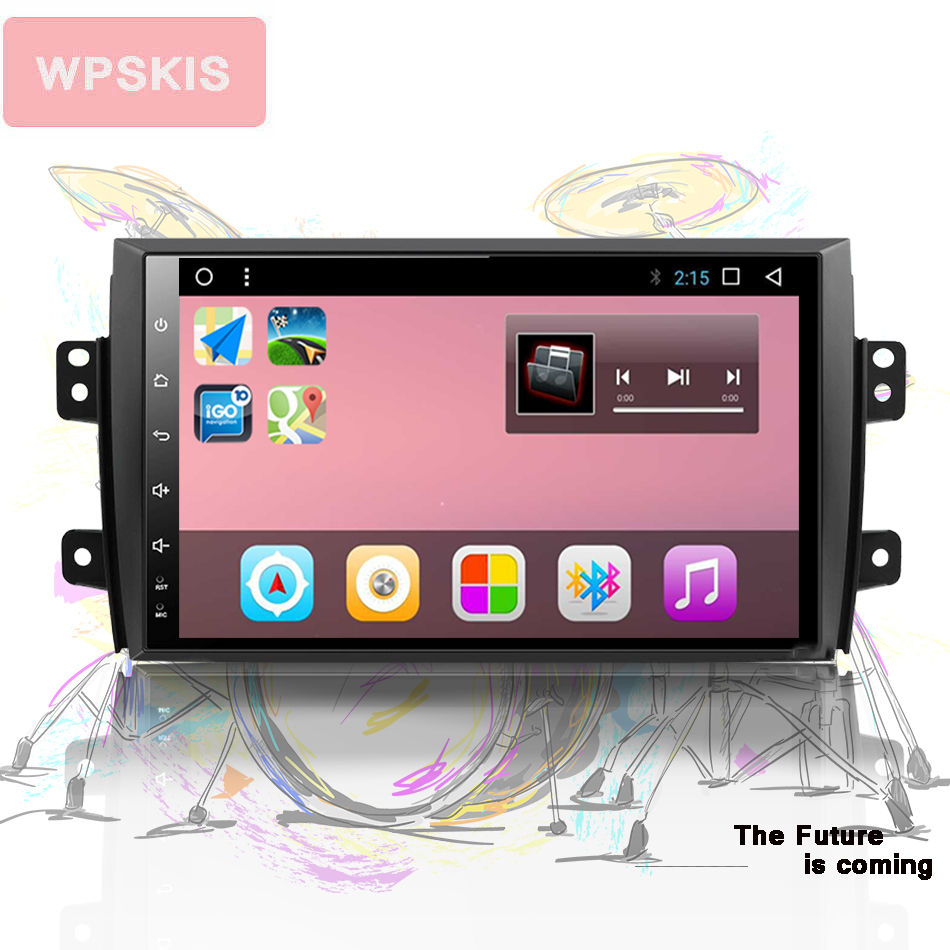 2 DIN Android 10.0 <font><b>car</b></font> dvd for <font><b>Suzuki</b></font> <font><b>SX4</b></font> 2006 2007 <font><b>2008</b></font> 2009 2010 2011 2012 2013 <font><b>car</b></font> <font><b>radio</b></font> navigation GPS <font><b>Multimedia</b></font> System rds image