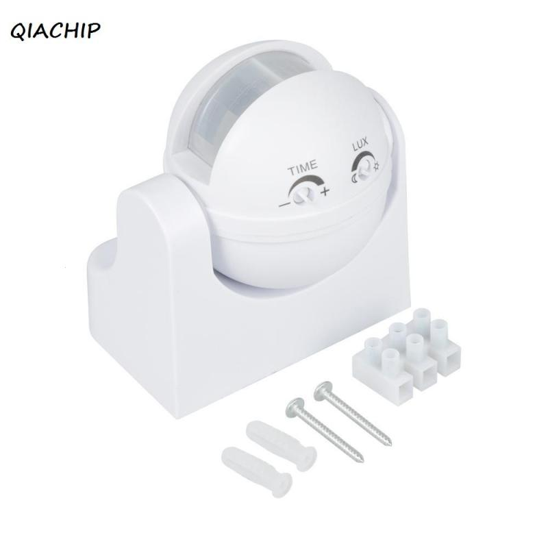QIACHIP Waterproof AC 110V 220V 180 Degree Outdoor IP44 Security PIR Infrared Motion Sensor Detector Movement Switch H3 new 180 degree security pir infrared motion sensor detector movement switch white automatic convenient durable