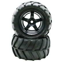 1/16 Remote Control Climbing Car Big Truck Tire Universal Type 1 Pair Black Exquisitely Designed Durable