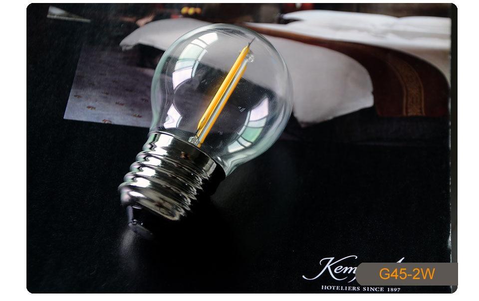 Dimmable Antique Retro Edison Incandescent LED lamp 110V E27 2W 4W 6W (10)