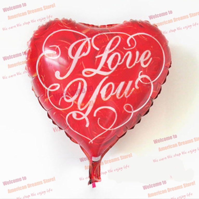 Gift picture more detailed picture about 50pcs 18 i love u 50pcs 18 i love u heart shape helium aluminum foil balloonfree shipping negle Image collections