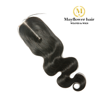 """Mayflower 2X6"""" Kim Lace Closure Remy Hair Body Wave Full Hand Tied With Baby Hair Line No Tangle No Shedding Long Parting"""