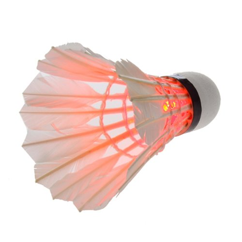 New New Practical RedDark Night LED Badminton Shuttlecock Birdies Lighting pack of 3
