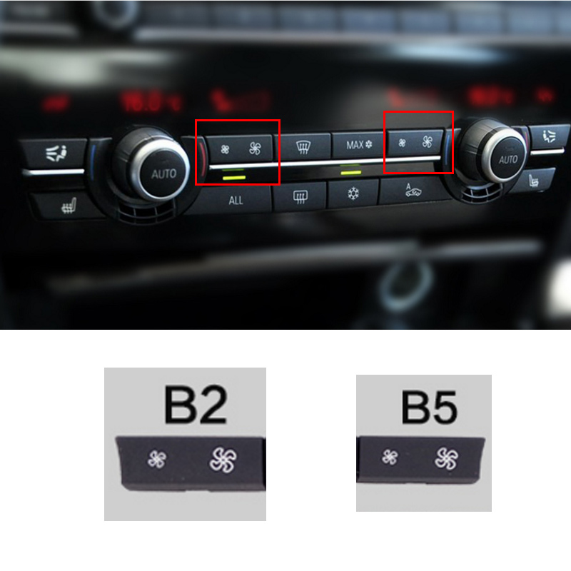HITTIME 1Pc Car Heater Climate Control Wind Volume Air Conditioning Switch Fan Button Cap Cover Replacement Fit for BMW F10 F07 F02 Left