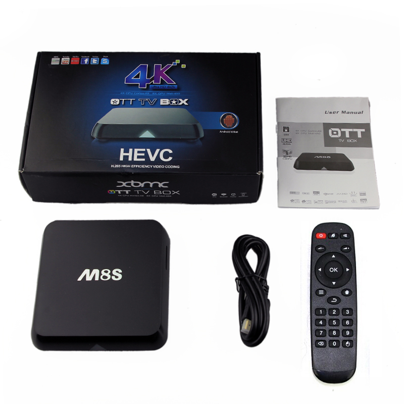 цены Android TV Box M8S Amlogic S812 Chipset 4K 2G/8G XBMC Dual band 2.4G/5G wifi Full HD Android 4.4 Smart Media Player