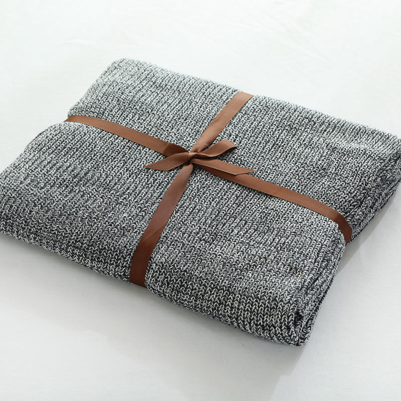ФОТО 1.1/1.8m size throw blanket on the bed,100% cotton Fishbone grain knitting blanket for adult/kids,super soft blanket for sofa