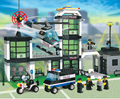Sistema del bloque compatible con lego city Hotel De policía 3D De construcción De ladrillo pasatiempos educativo juguetes para los niños