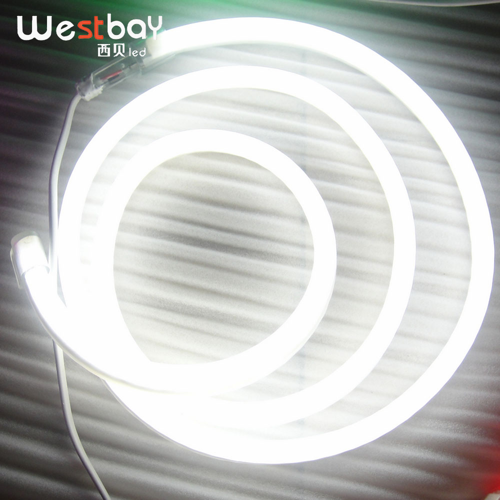 White Led Neon Light Flex for outside building decoration neon sign lettering 10m A Lot wholesale light neon image
