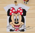 Free shipping women cartoon white minnie short-sleeve 100% cotton t-shirt lady t shirt