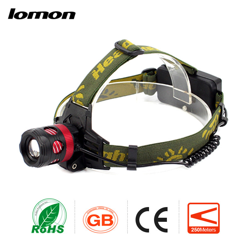 Zoomable LED Headlamp Olight Waterproof Military Super Brighest Rechargeable Bicycle Cyc ...