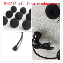100 pack of foam microphone windscreens round ball shape lavalier sponge windshields ,5mm opening &15mm inner length