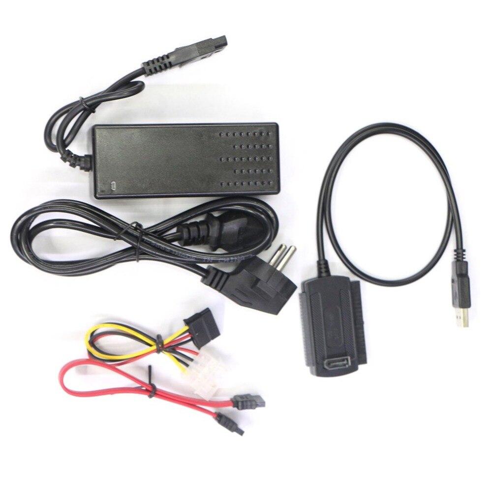 High Quality USB 2.0 to IDE SATA S-ATA 2.5 3.5 HD HDD Hard Drive Adapter Converter EU Plug Hot Sale in stock!!! high quality usb 2 0 to ide sata s ata 2 5 3 5 hd hdd hard drive disk adapter converter cable kit