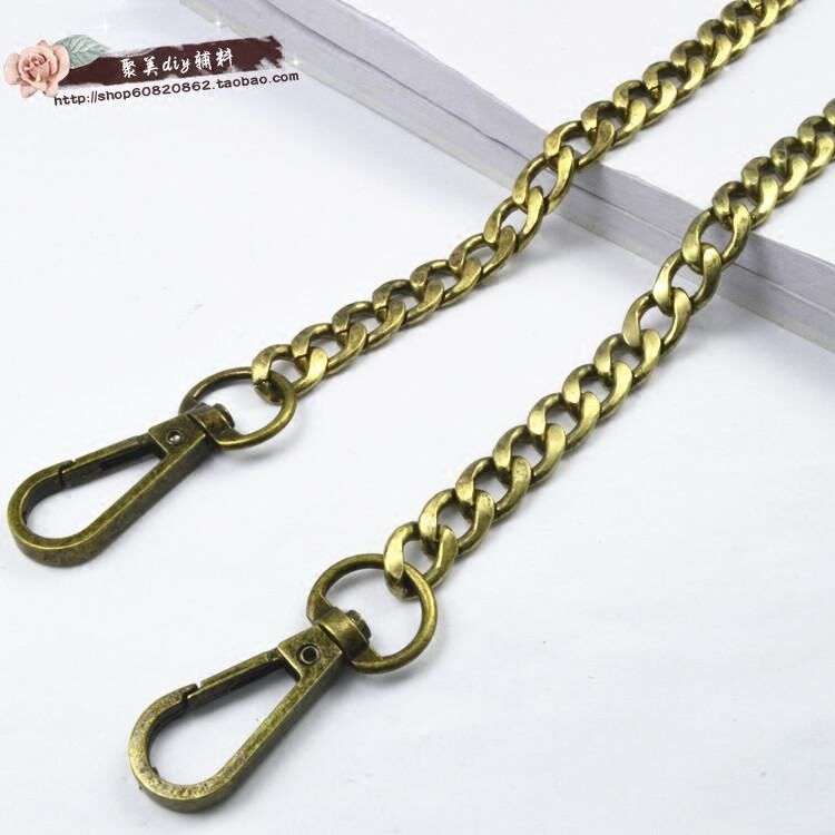 Free shipping Hight Quality bag strap handbag replacement purse strap bag accessories bag hardware Bronze chain repair parts(China)