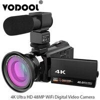 4 K 1080 P 48MP WiFi цифровая видеокамера рекордер w/0.39X широкоугольный макрообъектив микрофон принять для Novatek 96660 чип