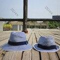 Chic Женщины Панама Fedora Дерби шляпа Дети Шляпа Ребенок Пляж Крышка Флоппи-Головные Уборы