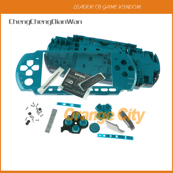 ChengChengDianWan 5pcs colorful For PSP3000 PSP 3000 Shell  Game Console replacement full housing cover case with buttons kit