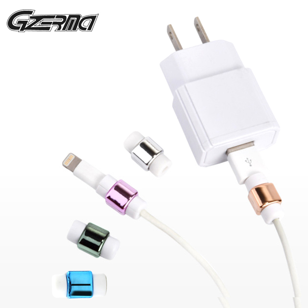 5Pcs Mini USB <font><b>Charger</b></font> <font><b>Cable</b></font> Protective Plating <font><b>Cable</b></font> Winder <font><b>Charger</b></font> <font><b>Protector</b></font> for Apple iPhone X 8 7 6S Plus 6S 5S