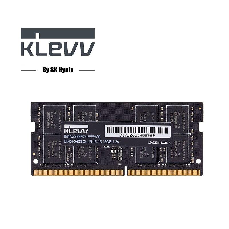 Klevv Ordinateur Portable Mémoire 4G 8G 16G DDR4 2666 MHz DIMM RAM 1.2 V carte mémoire Compatible Garantie À Vie