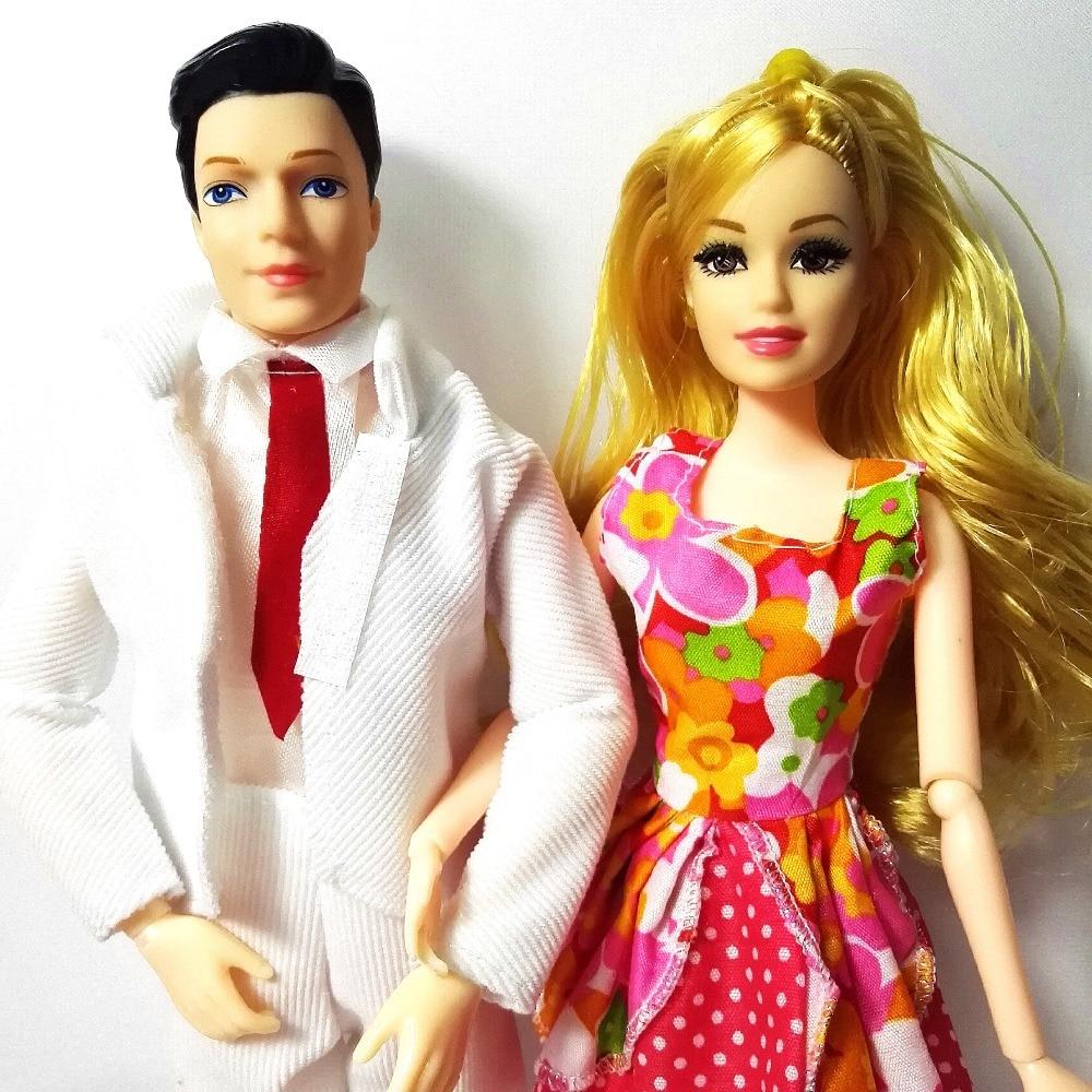 Mainan Fesyen Keluarga 4 Orang Dolls Suit 1 Ibu / 1 Ayah / 2 Little - Anak patung dan aksesori - Foto 4