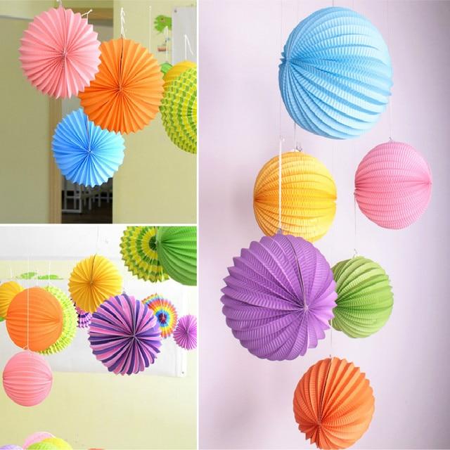 Attractive Hot Sale 1pcs/lot 8 Inch(20cm) Hanging Paper Accordion Lanterns Watermelon  Lantern Pictures