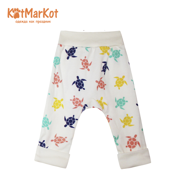 Детские штаны и капри КотМарКот 5831 в раннем детстве новорожденных КотМарКот одежда ползунки, закрывающие лодыжки, для малышей, хлопковые носки с изображением кошечки КотМарКот унисекс