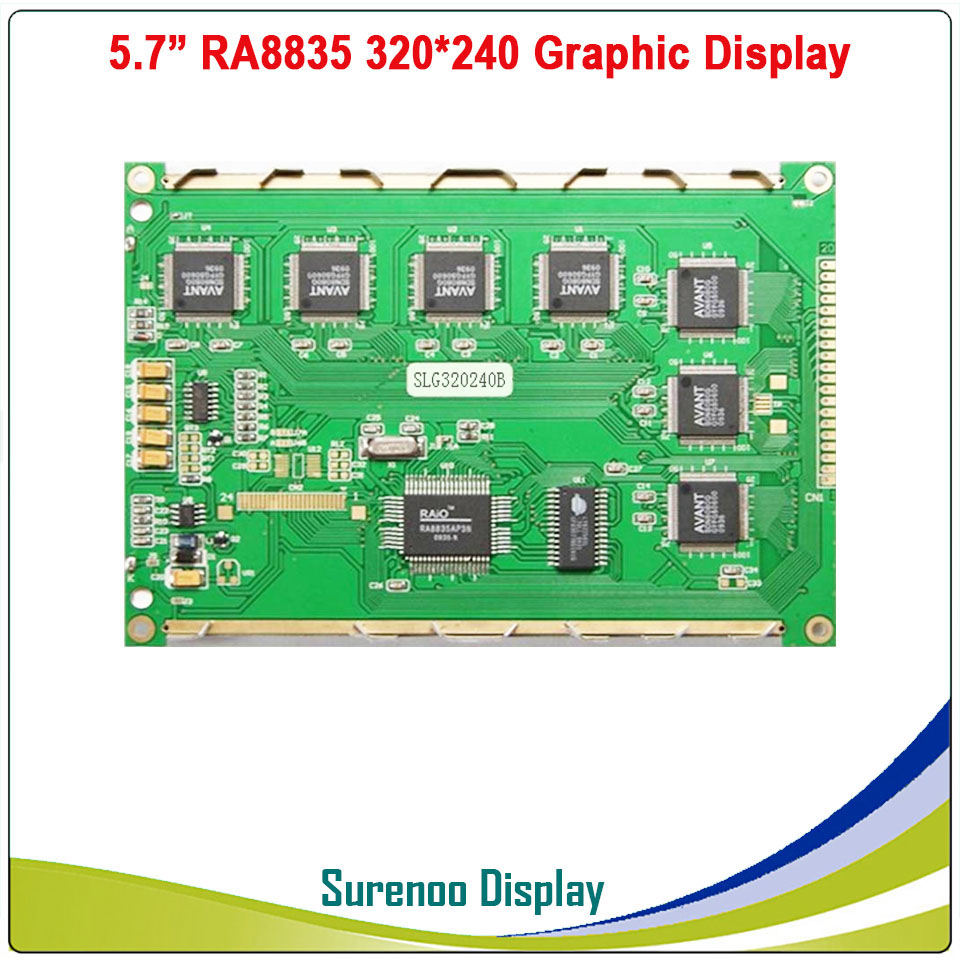 "Image 3 - 5.7"" 320X240 320240 Graphic LCD Module Display Panel Screen LCM with RA8835 Controller Blue LCD with LED Backlight-in LCD Modules from Electronic Components & Supplies"