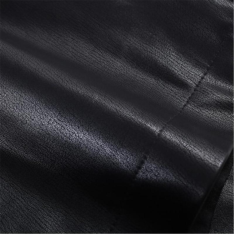 Shorts Con Mujeres Estilo Pu Cortos Elegante Cinturón De Cuero Pantalones Vintage 2019 Las Cintura Coreano Negro Alta 8zTqwU