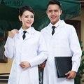 Nuevo diseño blanco hombres mujeres moda bata de hospital médico médicos batas de enfermería médico nuevo traje AA195