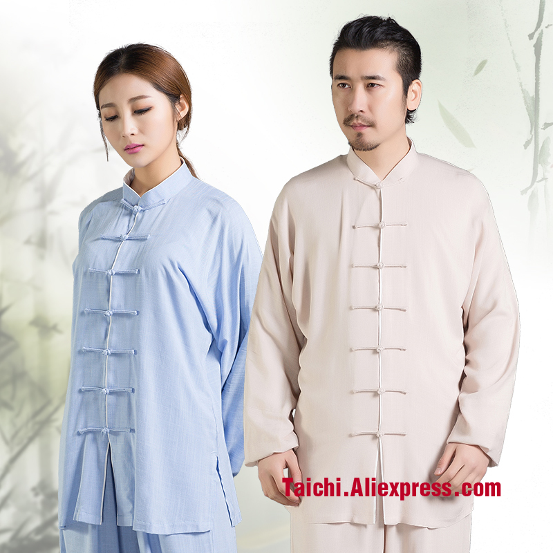 Male & Female Handmade Linen Tai Chi Uniform Wushu, Kung Fu,martial Art Suit  Chinese Stly Long And Short Sleeves
