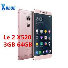 Original Letv LeEco Le 2X520 5.5 pouces Snapdragon 652 Octa Core téléphone portable 3GB RAM 64GB ROM 1920x1080 16MP Android empreinte digitale