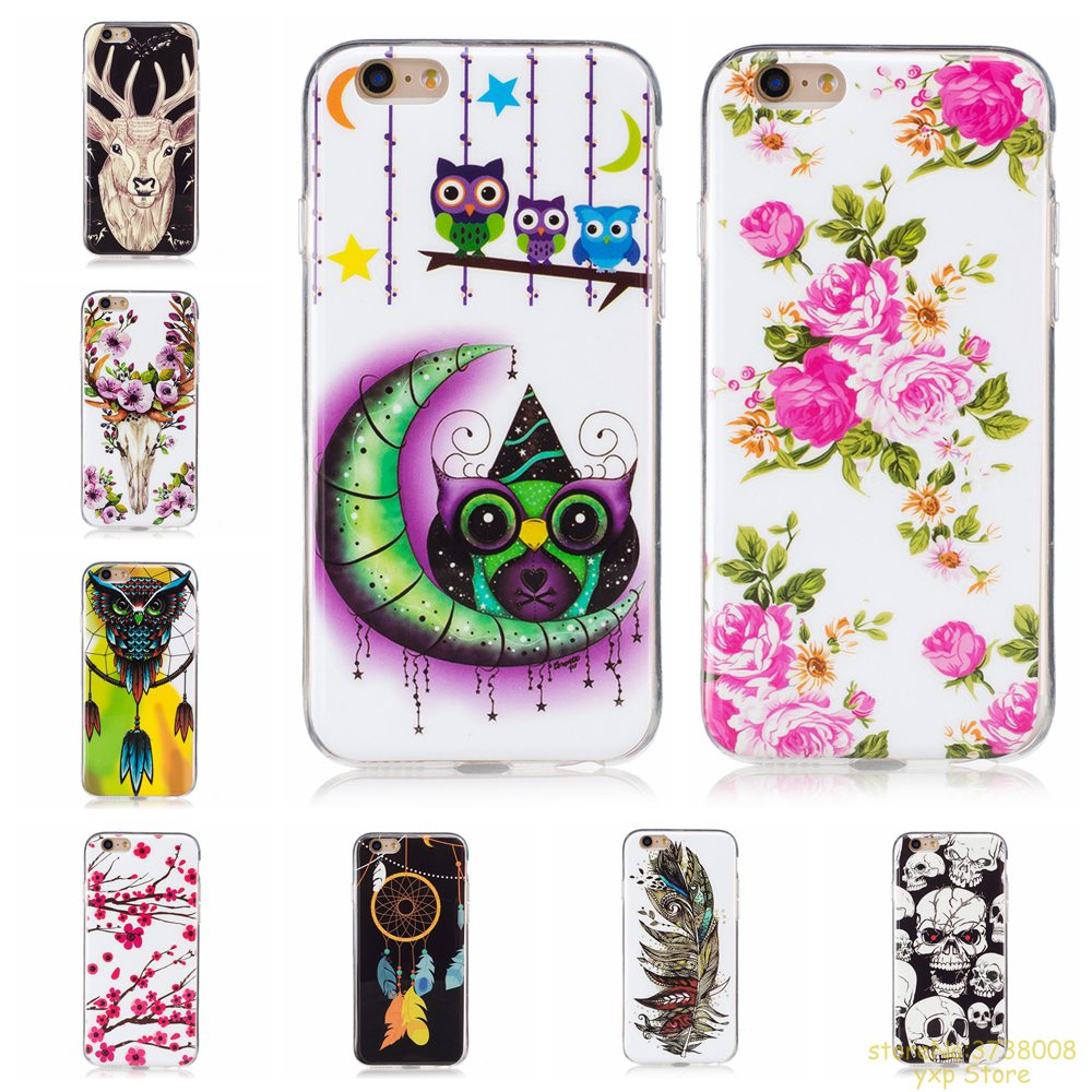 Luminous Phone Case For Apple iphone 6 PLUS Noctilucent Soft TPU Silicone Coque caso For iphone 6 PLUS Global Back Cover etui