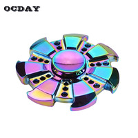 OCDAY Fidget Spinner Multicolor Circular Tri Hand Spinner ADHD Austim Anxiety Stress Adults Kid Gyro Toys