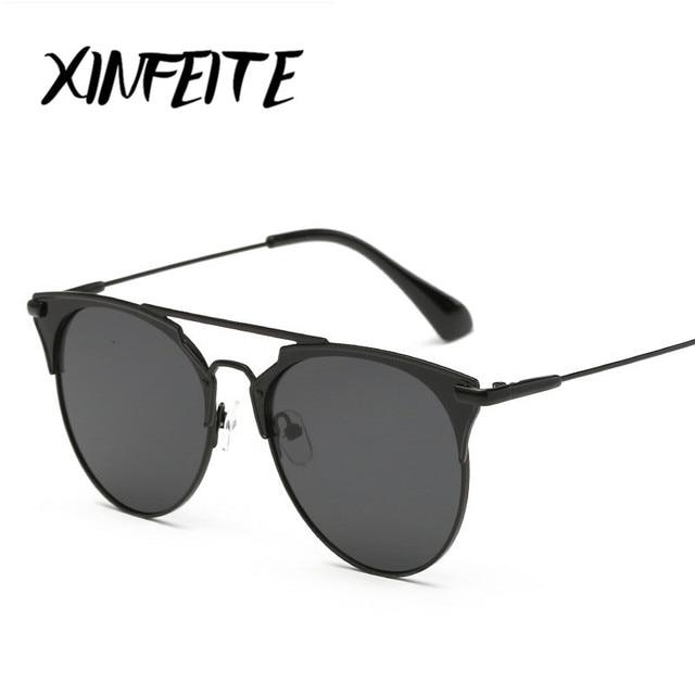 aabedec7c9fa Xinfeite 2017 Покрытие Зеркальные Солнцезащитные очки круглые Красочные  объектива женщина Для мужчин для вождения солнцезащитные очки
