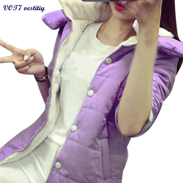 2017 Hotsale Winter warm WOMEN Coat VOT7 vestitiy Women's Casual New Hooded Winter Warm Cotton Parka Jacket Coats Coat A 1