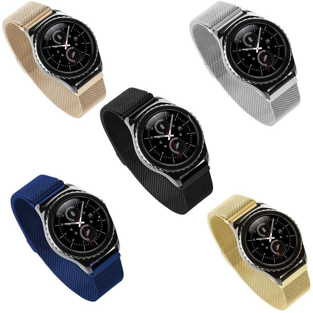Original Link Bracelet Strap & Magnetic Milanese Loop Watchbands Stainless Steel Band for Samsung Gear S2 Classic Watchband все цены