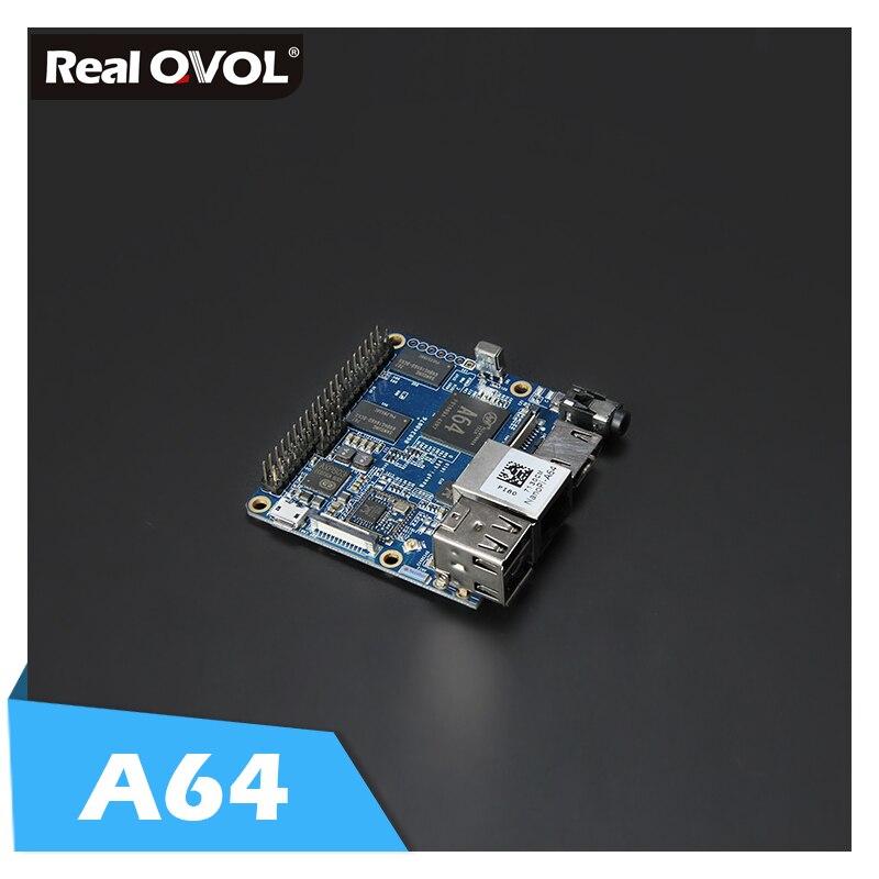 RealQvol Friendlyarm NanoPi A64 Development Board 64 bit Quad core Cortex A53 1 152GHz 1GB DDR3