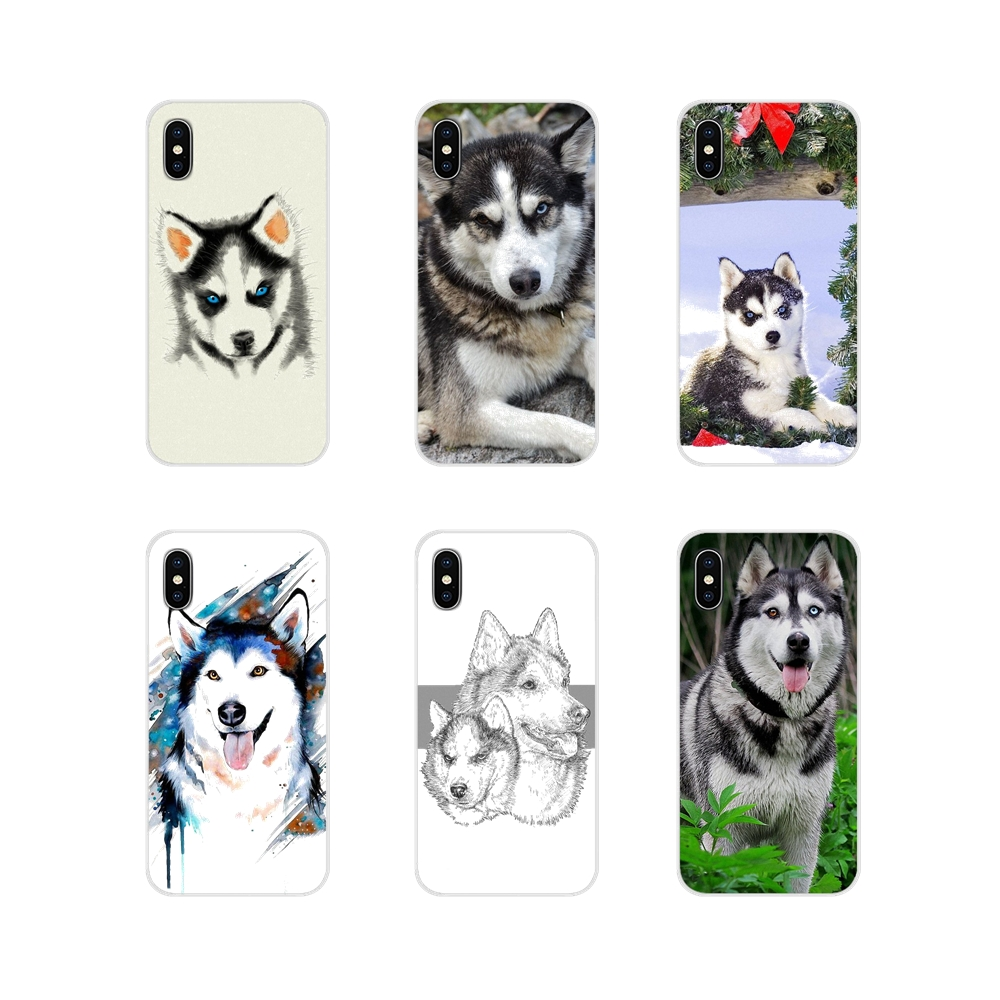 For Xiaomi Redmi Note 6A MI8 Pro S2 A2 Lite Se MIx 1 Max 2 3 For Oneplus 3 6T Mobile Phone Cases <font><b>Siberian</b></font> French Schnauzer <font><b>Husky</b></font> image