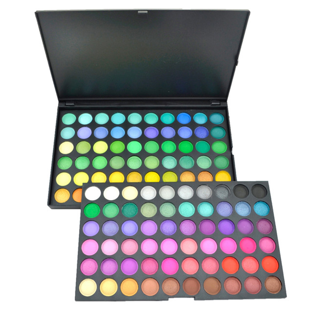 120 Cores Sombra Eye Shadow Palette Kit Maquiagem Set Maquiagem Pro Box Neutral Quente Eyeshadow Palette Cosméticos Maquiagem Conjunto