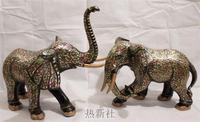 Пакистан бронза 30 дюймов цвет слон любителей животных расширенный импортированы ручной работы Art бронзовые украшения