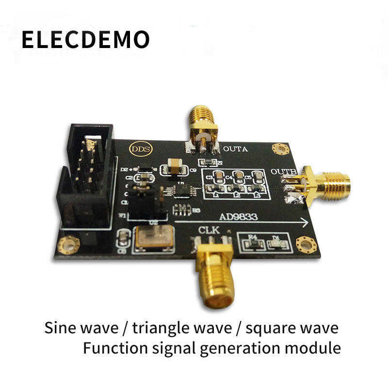 AD9833 DDS Signal Generator Triangle Sine Wave Signal Source Programmable Microprocessors Sine Square Wave Module-in Demo Board Accessories from Computer & Office