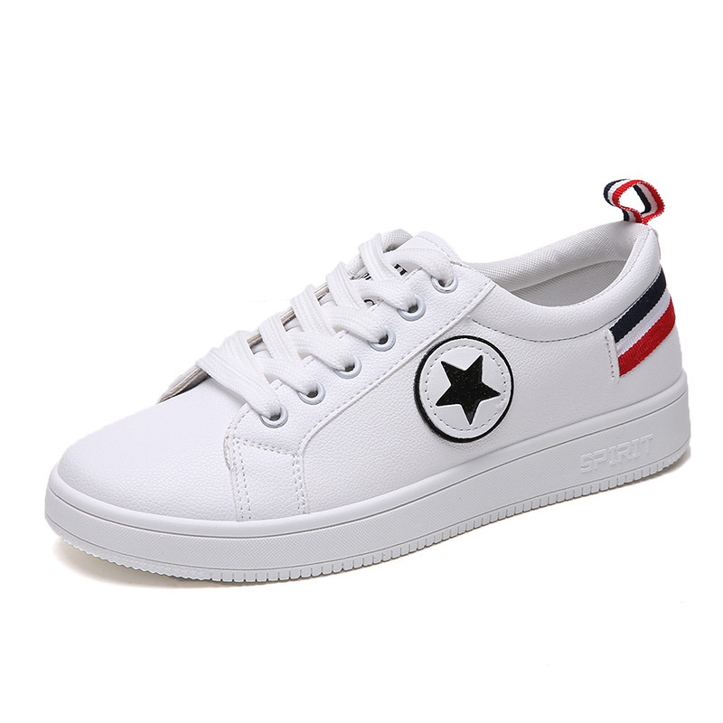2019 Shoes Women Sneakers Fashion Breathable PU Leather Platform White Shoes Woman zapatos de mujer Soft Footwears