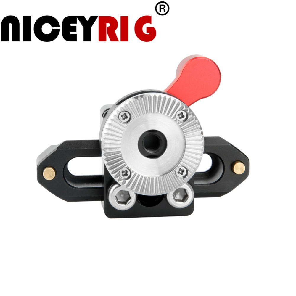 NICEYRIG NATO Rail Clamp With ARRI Mount Arri Rosette Adapter NATO Quick Release Clamp For Camera DSLR Shoulder Rig Photography