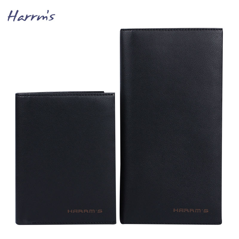 ФОТО 2016 New Design Harrms Brwon Black Color Mens Wallets Leather Mens Wallet Women Purse monederos carteras hombre
