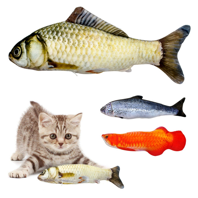 Fish Shaped Catnip Toy for Cats