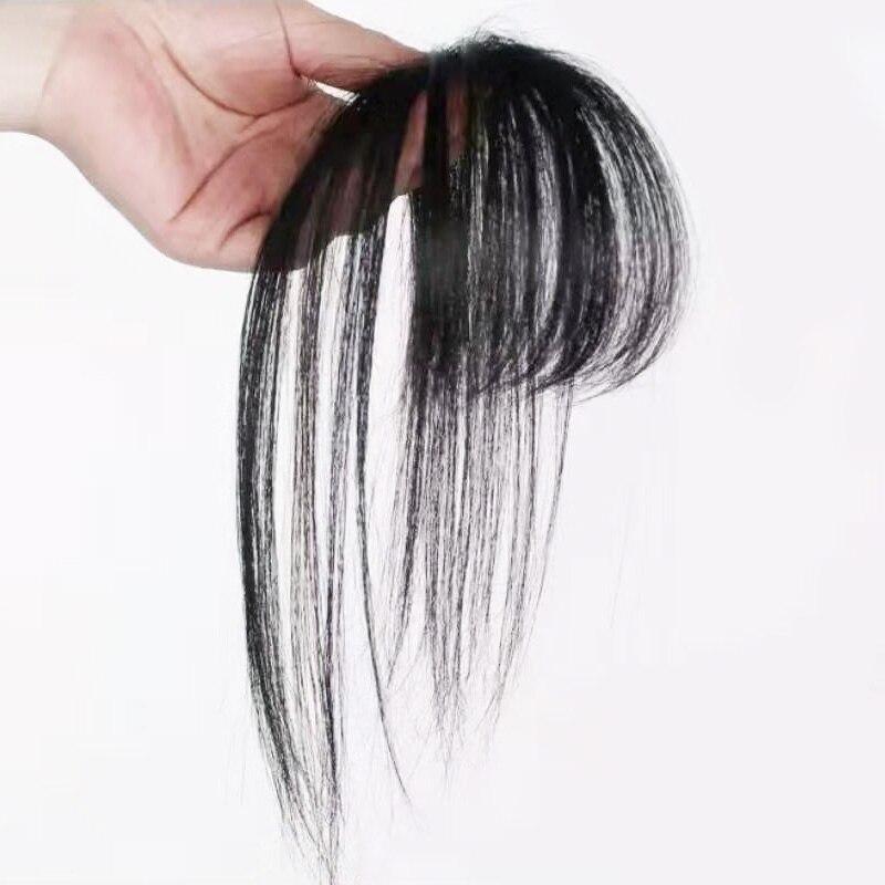 Isheeny Schwarz Braun Remy Fringe Clip In Menschliches Haar Pony 10g Natürliche Dünne Clip Pony Stück Haarverlängerung Und Perücken