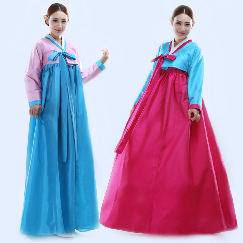Korean Tradition Dress Women Korean Hanbok Dress Korean Ancient Costume  Female National Stage Performance Dance Costume 18 fdeb1564c6cc