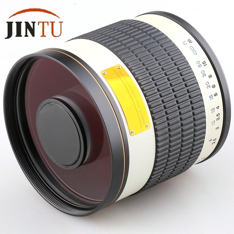 JINTU 500mm f/6.3 Ultra-téléobjectif lentille miroir pour Canon 5D MARK III II 5DIV 1D 1DS 60D 1000D 760D 750D 700D 650D 550D 70D caméra