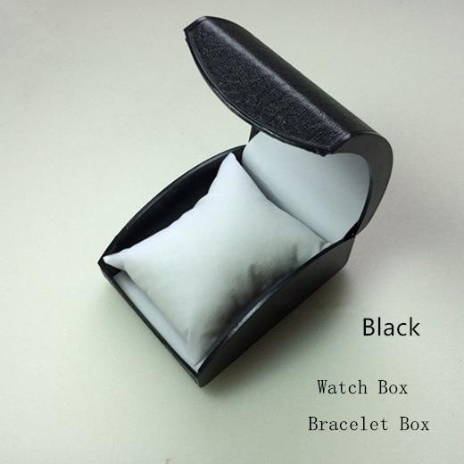 Cheap Plastic Watch Storage Box Black Watch Case With Pillow Fashion Luxury Brand Watch Gift Box